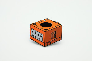Metal Pin Nintendo GameCube Orange