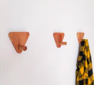 Wooden Wall Hooks, Wooden Decorative Hooks, Modern wall hooks, Wall Pegs, Coat Hooks, Entryway Hooks, Minimalist triangular clothes hooks