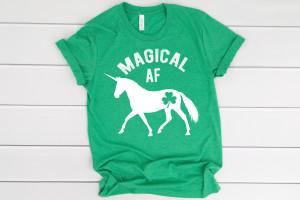 Magical AF Shirt / Irish Unicorn / Lepricorn / Green Shamrock / Funny St Patricks Day Shirt Men / Bar Crawl St Paddys Day Shirt
