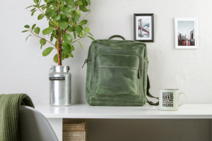 PERSONALIZED backpack,Leather backpack,Rucksack,Green backpack,Laptop backpack,Leather backpack women,Men leather backpack,Men rucksack