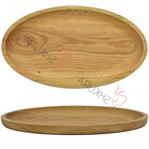 Oval wood serving dish Handmade Large wooden plate Serving oval dish  Hand carved Wood kitchen plate Wood snack plate 1 sections