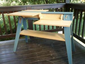 Folding table convertible