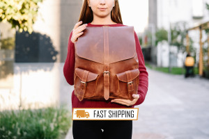 """Gift for women, Backpack Purse, School backpack, Leather backpacks, Backpack women, 15.6"""" laptop backpack, Laptop bag, Laptop backpack women"""