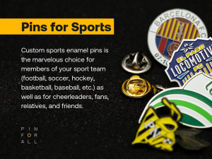 Custom Sport Enamel Pin - Pins With Your Custom Design - Hockey Pins - Football Pins - Baseball Pins - Made To Order - Custom Pins