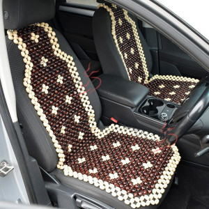 Beaded Car seat cover set of 2 for men Car accessory seat cover for women Front seat cover for car Gift for her Wood Seat protector for car