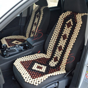 2 pcs Beaded Car seat cover for men Car accessory seat cover for women Front seat cover for car Gift for her Wood Seat protector for car
