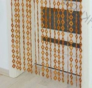 Beige Framing doorway Wall hanging wood Curtains wooden beads Wall decoration Wall panel wooden Bedroom screen Split the room Moms gift