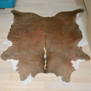 "Beige cowhide rug 78"" x 76""  Genuine Throw Cream Natural  Very thick short fur rug Genuine leather Pelt oxhide decorative rug"