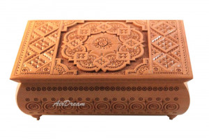 Wooden box carved Wooden jewelry box Handmade Small wooden box Wedding box carving Wood box Wooden crate Wooden chest Wedding gift for woman