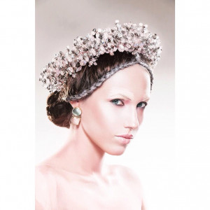 Diadem of crystal beads - Stardust. Wreaths. Hair accessories. Tiara. Jewelry for the head. Diadem.