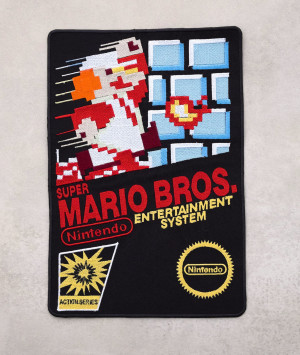 Super Mario Bros Embroidered Big Back Patch Nintendo NES Badge Sew On Craft Denim Jacket Patch