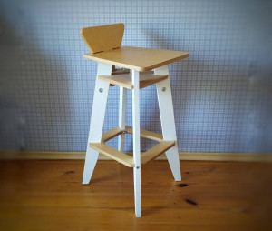 Wooden bar chair, counter stool in industrial style, farmhouse pub chair, kitchen bar stool in Scandinavian style