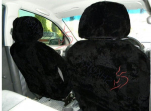 Sheepskin car seat cover black 2 pcs Fur Seat cover for women Car accessory for men Merino Front seat cover for car Gift for him