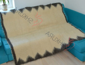 Heavy blanket adult Natural throw blanket Wool thick blanket Organic Sheep Plaid boho Hypoallergenic bohemian throw blanket Beige plaid