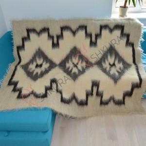 Large Merino Wool blanket Natural throw blanket Wool thick blanket Organic throw blanket boho Hypoallergenic bohemian throw blanket