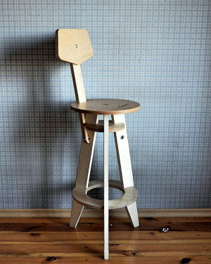 Wooden bar chair, counter chair in industrial style, pub chair in minimalist style, kitchen bar chair in Scandinavian style