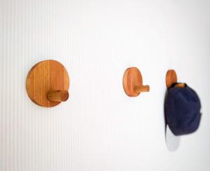 Wooden Wall Hooks, Wooden Decorative Hooks, Modern wall hooks, Wall Pegs, Coat Hooks, Entryway Hooks, Minimalist round coat hooks
