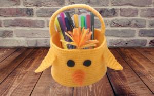 Easter basket yellow chicken