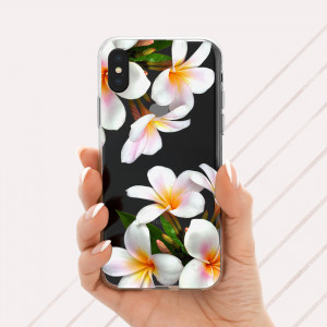 iPhone XS Case Orchid iPhone Case Clear iPhone 8 plus Case Tropical Orchids floral iPhone Xs max Clear Case Gift for Her Clear iPhone X Case