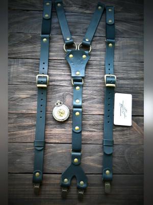 Leather Suspenders, Wedding Suspenders, Mens Suspenders, Groomsmen Suspenders, Rustic Suspenders, Rustic Wedding, Black Suspenders, Handmade