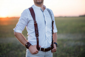 Handmade Suspenders, Sword belt, Leather Suspenders, Mens Suspenders, Personalized Suspender,  Wedding Groom Suspenders, Gift for barber man
