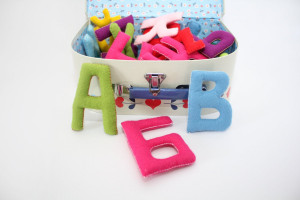 ABC felt letters / Felt alphabet / Soft Alphabet / Educational Toy / Educational gift / Nurcery decoration / play and learn / back to school