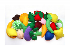 Fruits and vegatables from felt, SET OF 20, felt food, pretend food, montessori toy, pretend game, learning toy, educative gift, veggie gift