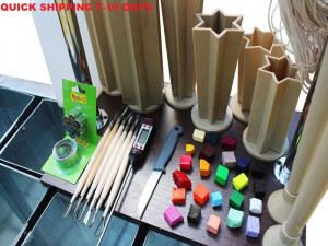 Equipment for making carved candles, water bath. wax candle melter machine Set of 12 buckets
