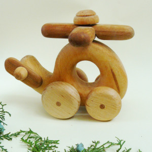 Wood helicopter,Toys wooden,Helicopter Waldorf Toys,Waldorf car,Wooden toys for baby,Kids gifts.