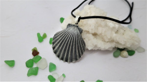 Shell Scallop pendant 50 mm sterling silver