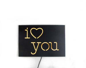 Neon Sign I love you // led technology  // Modern romantic decor // Wall Art // Universal current adapter // Free worldwide shipping