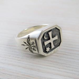 Cossack's signet ring for men - ukrainian gift - for cossacks - for men