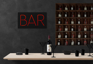 Man cave Wall Light Neon Sign style BAR led technology // Wall Art // Universal current adapter // Free shipping