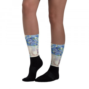 Socks Cornflowers and Daisies. These socks are extra comfortable thanks to their cushioned bottom.