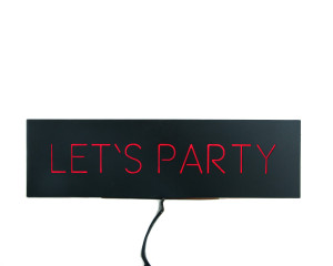 Man cave Wall Light Neon Sign style Let's Party LED technology // Man cave // Wall Art // Universal current adapter // Free shipping