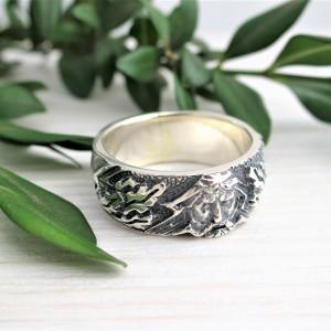 Perun's ring -  slavic amulet - mens guard - slavic guard - God Perun - ethno ring
