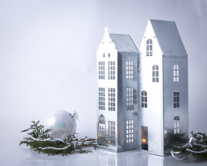 Candle Holders // Lanterns // Inspired by Amsterdam and Stockholm // set of 2 // Tin Houses for Tea Lights