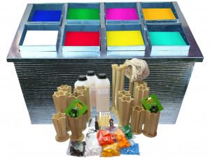 candle making kit, water bath. wax candle melter machine Set of 8 buckets