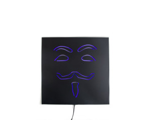 Man cave Wall Light Neon Sign style Anonymous LED technology // Modern decor // Wall Art // Universal current adapter // Free shipping