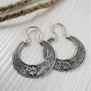 Alatyr earrings - ethno slavic ukrainian earrings - celtic ornament earrings