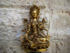 Green Tara Buddhist Bronze Statue