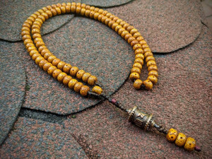 Old Bodhi Moon and Star Mala Prayer 108 Beads Buddhist Rosary Mantra Meditation Necklace Demonorops Om Mani Tibetan Wheel