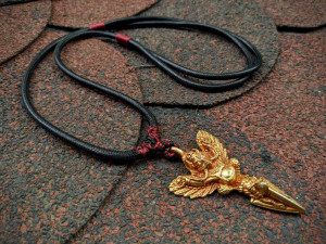 Garuda Giant Eagle Bird Pendant Choker Manjushri Idam Defender of the Negative Manifestations Tibet Phurba Great Deity Nagas Winner Necklace