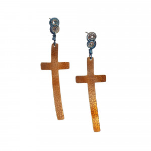Titanium Cross earrings, Easter jewelry for adult, Easter gifts for adults, Easter cross jewelry, Easter earrings studs