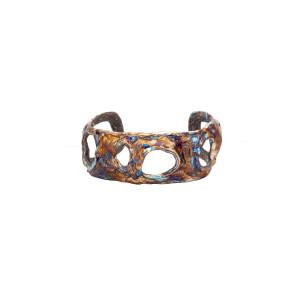 Titanium Statement Cuff bracelet Size 19.0 cm / 7.48 in, Wide cuff bracelet, Witchy jewelry, Welded art, Statement cuff, Size 7.5 in