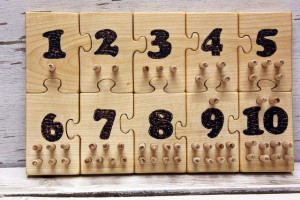 Ten Board, Number counting, Toddler number, Early learning, Homeschool, Montessori learning,  Educational Toys