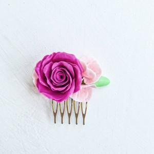 Rose hair comb
