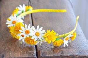 Wild flowers headband. Dandelion headband