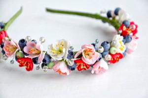 Sacura flowers headband