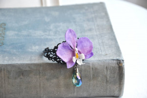 Orchid bracelet, orchid jewelry